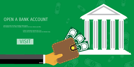 bank deposit: Business concept for online internet banking, finance investment, save money, bank deposit.
