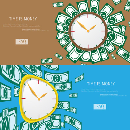 analogy: Business concept for time management. Time is money. Illustration