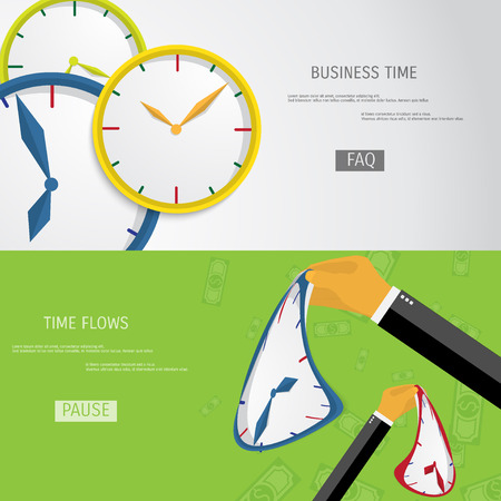 Business concept for time management. Time flows. Ilustrace