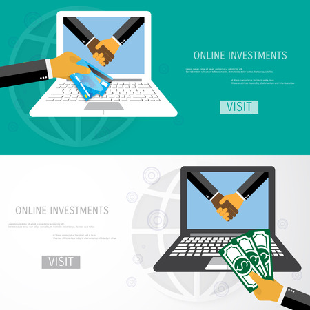 strategic management: Flat design concepts for business, finance, strategic management, investment and idea. Concepts for web banners and promotional materials.