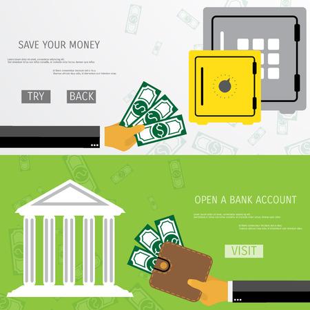 Business concept for online internet banking, finance investment, save money, bank deposit.