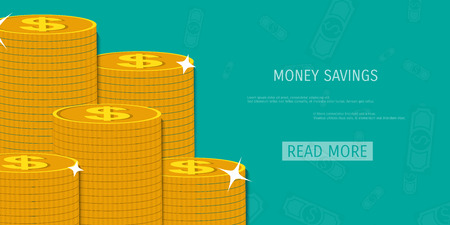 stacking: Vector money savings concept illustration. Web storage. Internet bank. E-commerce and internet banking. Illustration