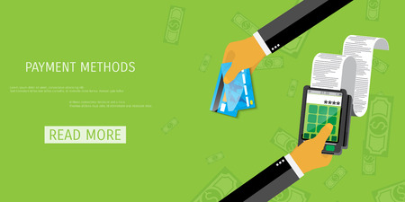 methods: Vector payment methods concept illustration. E-commerce and internet banking.