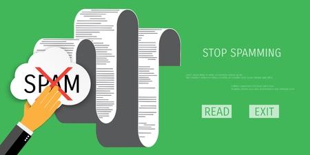 globális kommunikációs: Vector spamming web flat background. Global communication. Social network. Concepts for web banners and promotional materials.