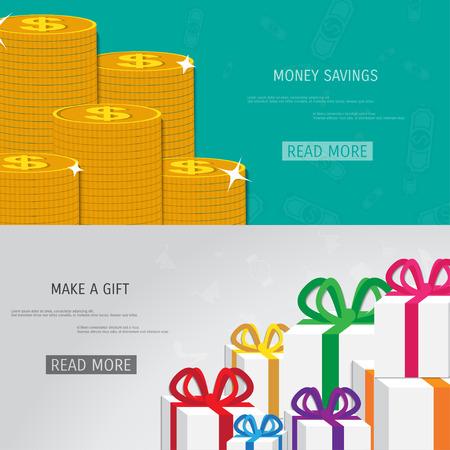 adding: Vector money savings concept illustration. Web storage. Internet bank. E-commerce and internet banking. Illustration