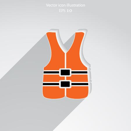 Vector Schwimmweste Flach icon.