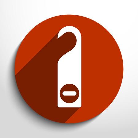 소요: Vector hotel label flat icon illustration. 일러스트
