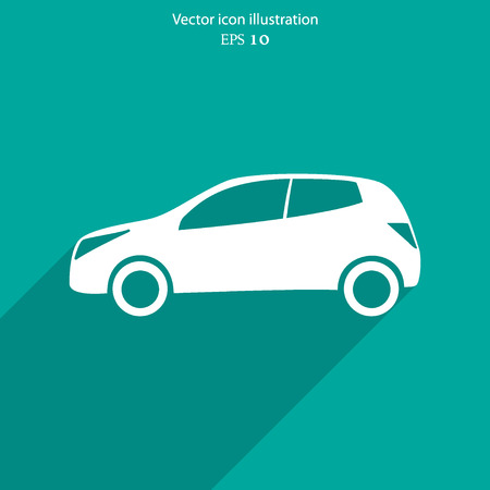 racing sign: Vector car flat icon illustration. Illustration