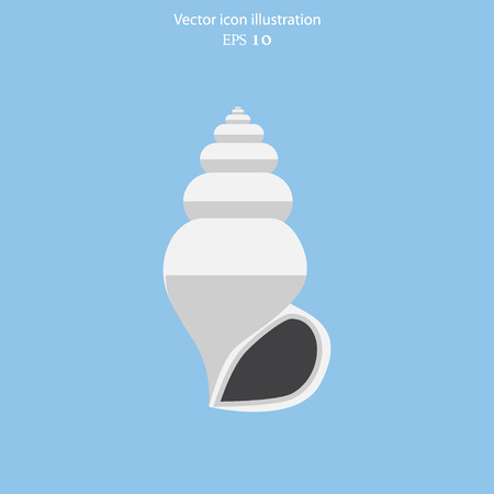 cockle: Vector sea shell flat icon illustration. Illustration