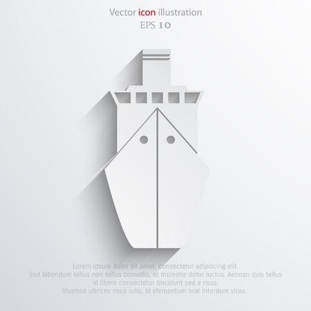 Vector ship flat icon illustration.