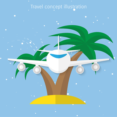 palm pilot: World travel and tourism concept illustration.