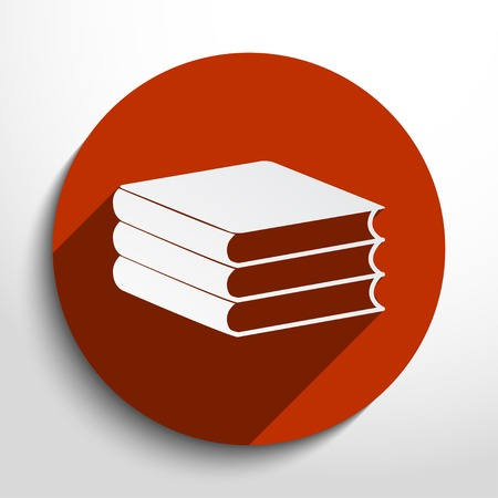Vector book icon illustration background.