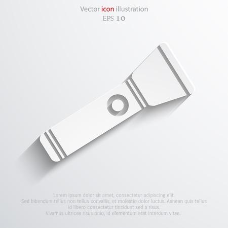 lighten: Vector flashlight flat icon illustration