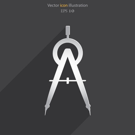 arquitecto: Vector divisor icono plana ilustración Vectores