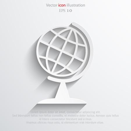 globe  the terrestrial ball: Vector globe icon illustration background.