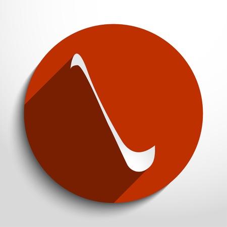 mestolo: Vector mestolo illustrazione piatta.
