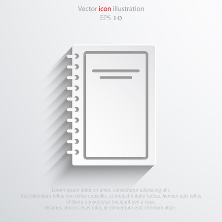 graphic novel: Vector book icon illustration background.