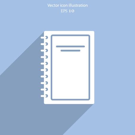 book vector: Vector book icon illustration background.