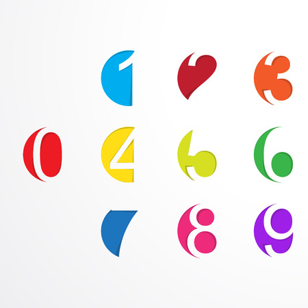 numeracy: Vector numbers from number set Illustration