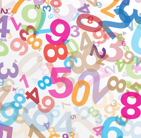 Abstract background with numbers illustration Reklamní fotografie - 43564365