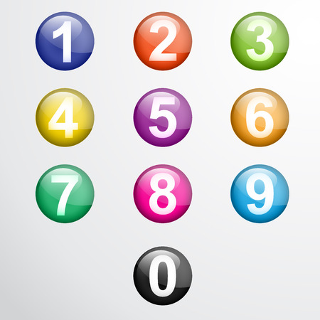 numeracy: Vector numbers from number set.  Illustration