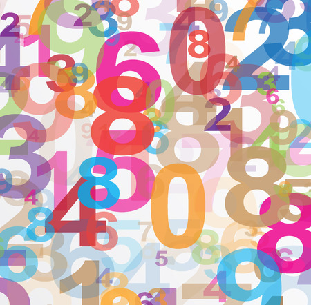 number 8: Abstract background with numbers illustration
