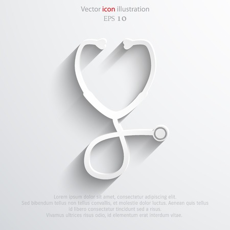 diagnosing: Vector stethoscope web icon