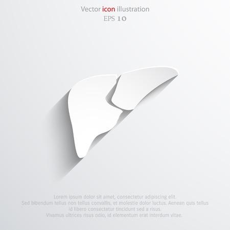 Vector flat liver icon  イラスト・ベクター素材