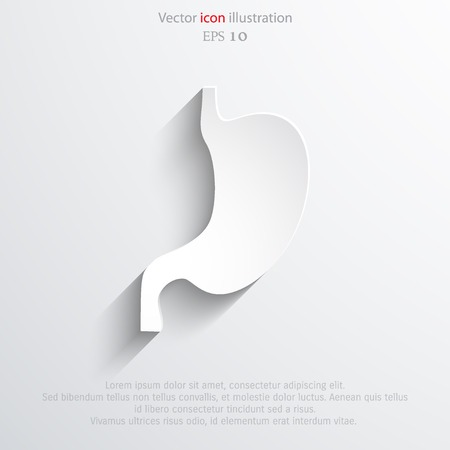 colonoscopy: Vector flat belly icon
