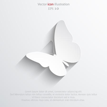 mariposa: Mariposa del vector icono plana. Vectores