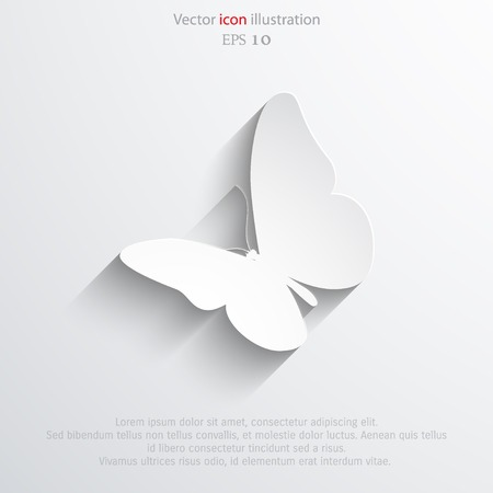 Vector butterfly flat icon.