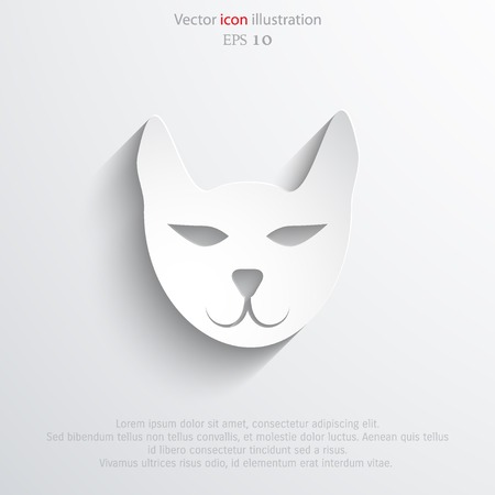 mournful: Vector cat web icon