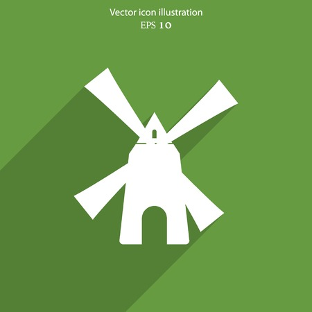 agro: Vector mill web icon Illustration