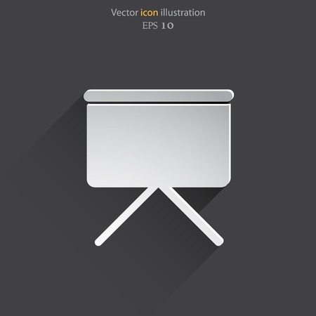 Vector projection screen web icon. Illustration