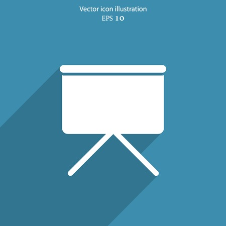 projection screen: Vector projection screen web icon. Eps 10.