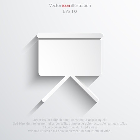 projection screen: Vector projection screen web icon.  Illustration