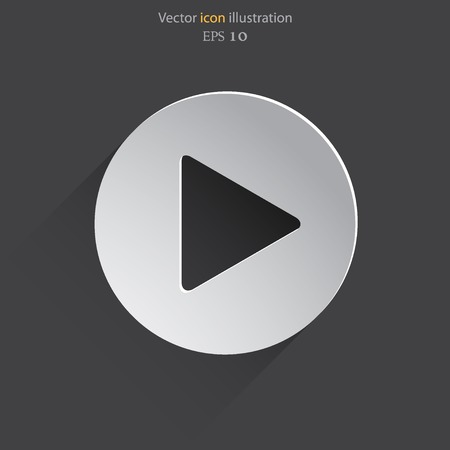 click button: Vector play web icon Illustration