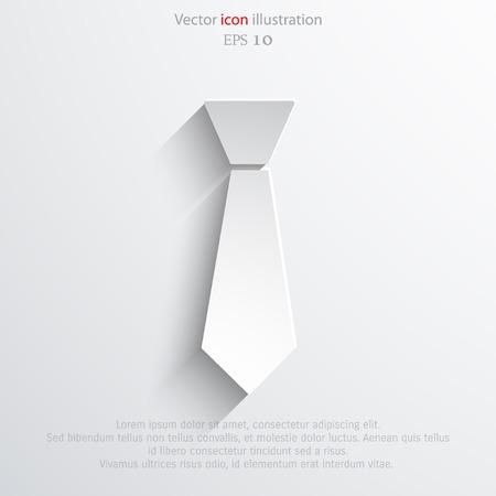 Vector necktie web flat icon. Stock Vector - 43490338