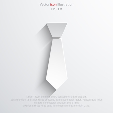 necktie: Vector necktie web flat icon.