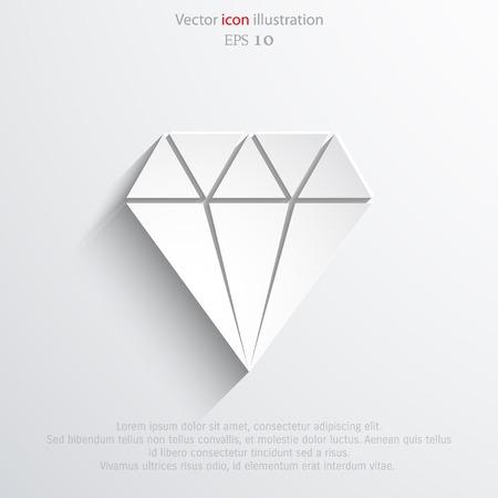 spoil: Vector diamond web icon Eps 10.