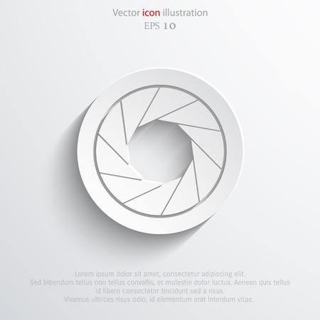 camera film: Vector film camera web icon.  Illustration