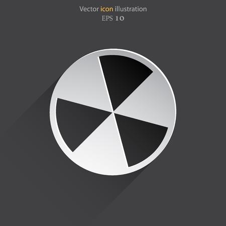 radiacion: Vector icono de la web de radiación