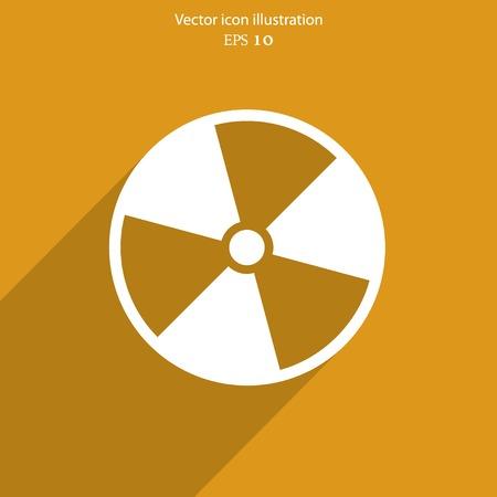 Vector radiation web icon