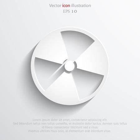 irradiation: Vector radiation web icon