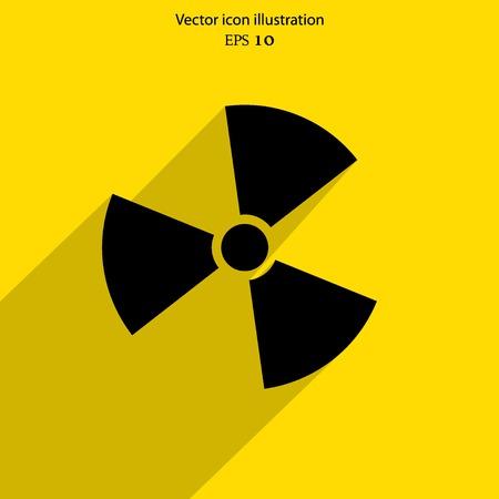 radiacion: Vector icono de la web de radiaci�n
