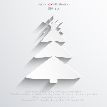 Vector xmas tree web flat icon.