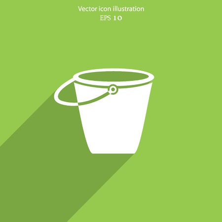 Vector bucket flat icon illustration