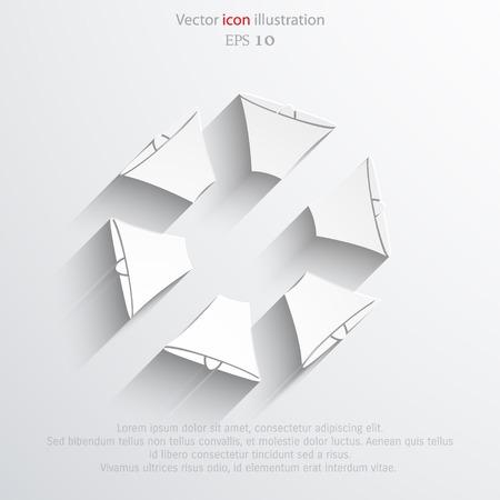 mega phone: Vector loudspeaker web flat icon. Illustration