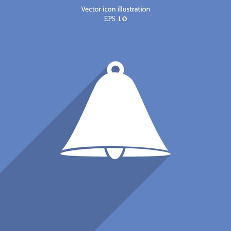attentive: Vector bell web flat icon.  Illustration