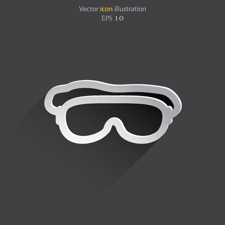 free diver: Vector diving mask  web flat icon. Illustration